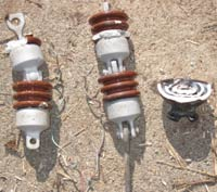 Bad insulators and copper wire ties